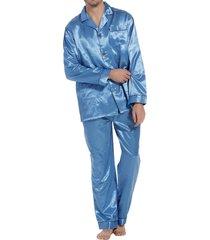 robson satijnen doorknoop heren pyjama