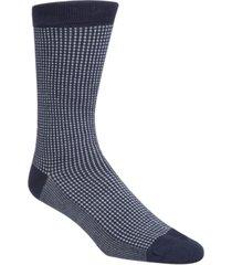 cole haan men's checked crew socks