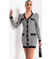 akira official business long puff sleeve mini dress