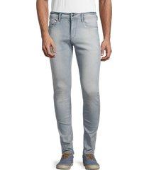 buffalo david bitton men's max-x basic denim skinny jeans - sun bleach - size 33 32