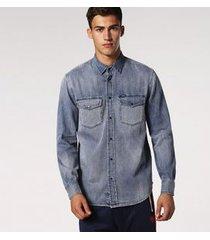 camisa diesel d-rooke | masculina denim