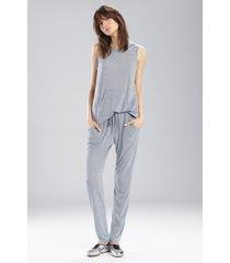 josie heather tees kangaroo pants pajamas, women's, grey, size l natori