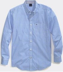 tommy hilfiger men's adaptive custom fit check shirt collection blue - xxl