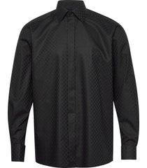 chessboard check evening shirt overhemd business zwart eton