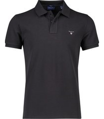 gant poloshirt regular fit zwart