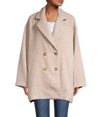 free people women's hannah super soft slouchy blazer - camel - size s