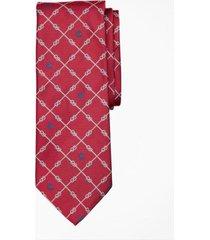 corbata nautical knots and fleece rojo brooks brothers