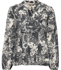 puff-puff blouse blus långärmad grå odd molly