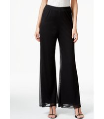 msk mesh wide-leg dress pants, regular & petite sizes