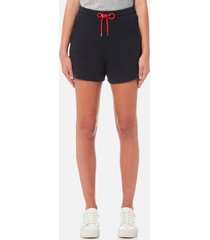 emporio armani women's drawstring shorts - blue - it 46/uk 16 - blue
