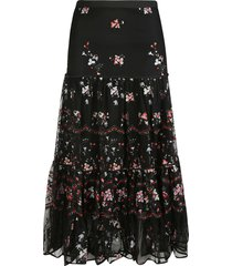 tory burch embroidered turtle skirt