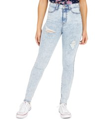 celebrity pink juniors' curvy ripped high rise skinny jeans