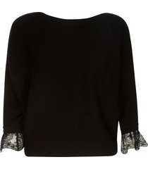 chloé cropped laced cuff pullover