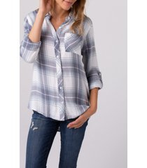 thread and supply soft plaid one pocket shirt