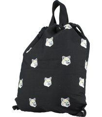 maison kitsuné backpacks & fanny packs