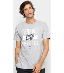 camiseta nba oklahoma city thunder destroyed masculina