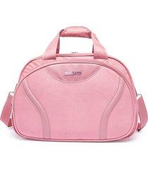 bolsa de academia madame transversal rosa