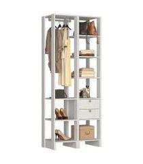 estante closet nova mobile ey105 yes 2 gavetas e 8 prateleiras