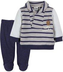 conjunto recién nacido demis beige black and blue