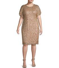 plus embellished knee-length dress
