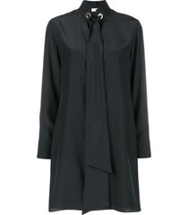 chloé tie neck shift dress - black