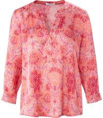 blouse met 3/4-mouwen en ronde hals van peter hahn roze