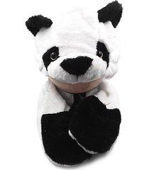 touca thata esportes pelúcia gorro cachecol animais bichinho cosplay fantasia infantil protetor de mão panda