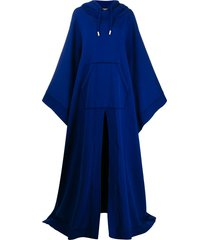 dsquared2 oversized hooded poncho - blue