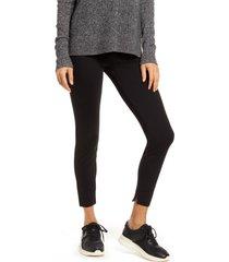 women's lysse fennel ankle slit leggings, size x-large - black
