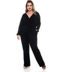 macacão all black plus size