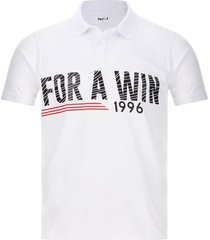 polo hombre for a win color blanco, talla l