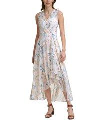 calvin klein floral-print maxi dress