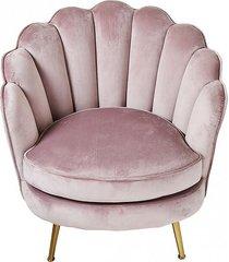 fotel welwetowy alma na złotych nóżkach pink