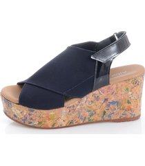 sandaletter alba moda marinblå