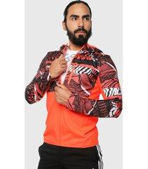 chaqueta naranja-multicolor adidas performance own the run