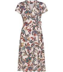 dress knitted fabric knälång klänning multi/mönstrad taifun