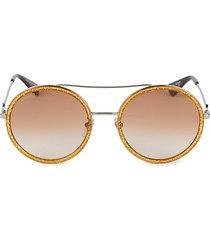 56mm browline round sunglasses