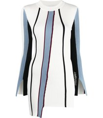 ambush vertical-stripe knitted top - white
