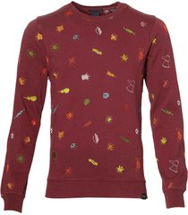 sale - scotch & soda - trui - slim fit - rood