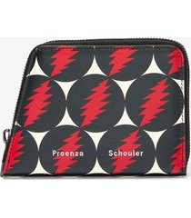 proenza schouler grateful dead trapeze zip wallet grateful dead print/multicolour one size