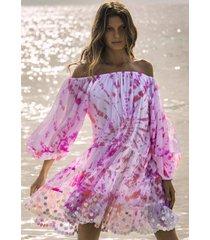 jets by jessika allen spiral tie dye dress pink