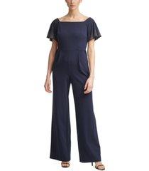 calvin klein embellished off-the-shoulder jumpsuit