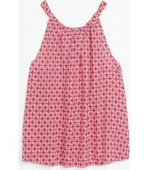 blusa sin mangas tie back rosado gap