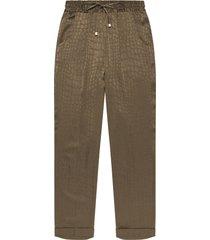kiton trousers silk
