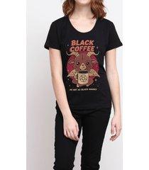 camiseta hot black coffee