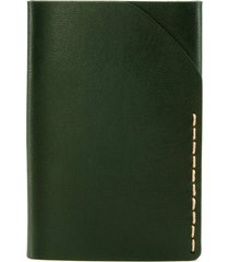 ezra arthur no. 2 leather card case in green at nordstrom