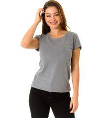 camiseta opera rock t-shirt chumbo - cinza - feminino - algodã£o - dafiti