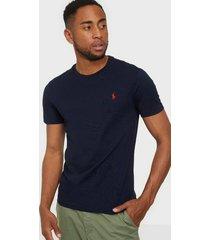 polo ralph lauren short sleeve jersey t-shirts & linnen navy