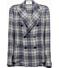 barena giacca doppiopetto in tessuto tartan