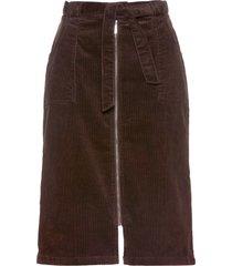 gonna in velluto con cintura (marrone) - bpc selection